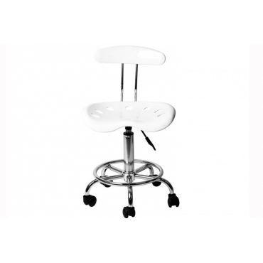 chaise de bureau roulette blanche popi achat vente. Black Bedroom Furniture Sets. Home Design Ideas