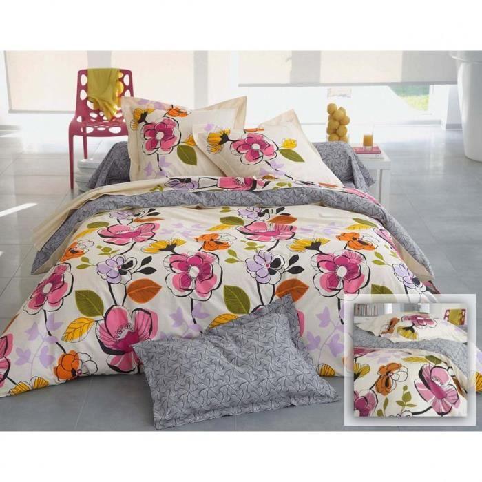drap fleurs 1 personne ou taie ou housse de couette 1 ou 2 personnes excedence achat vente. Black Bedroom Furniture Sets. Home Design Ideas