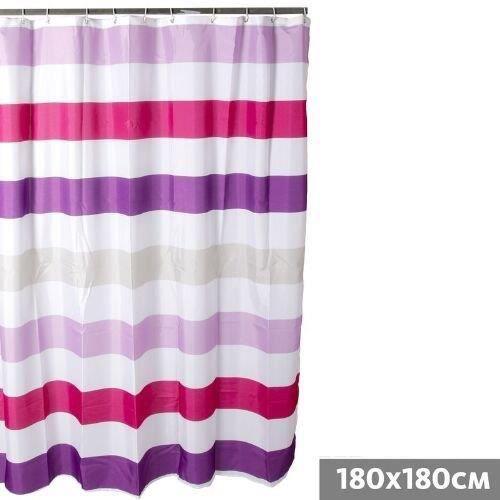 Rideau de douche bandes 180x180 cm pvc achat vente rideau de douche pvc cdiscount - Rideau de douche 180x180 ...