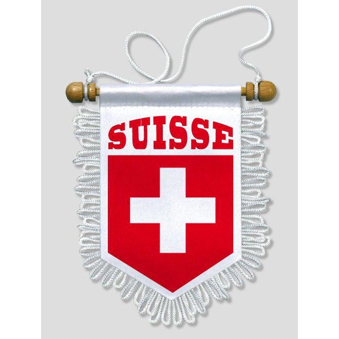 fanion voiture suisse 13 x 15 cm prix pas cher soldes cdiscount. Black Bedroom Furniture Sets. Home Design Ideas