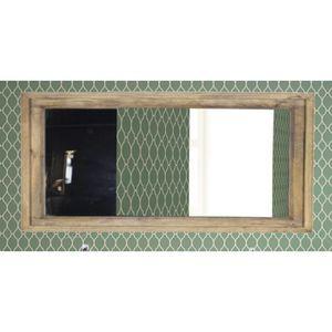 Meuble salle de bain acacia achat vente meuble salle for Miroir 2m