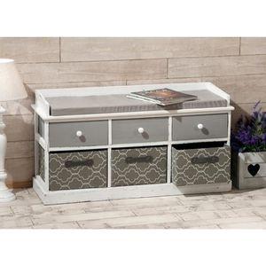 banc en bois interieur achat vente banc en bois interieur pas cher cdiscount. Black Bedroom Furniture Sets. Home Design Ideas