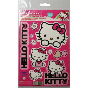 autocollant hello kitty achat vente autocollant hello kitty pas cher soldes d hiver d s. Black Bedroom Furniture Sets. Home Design Ideas