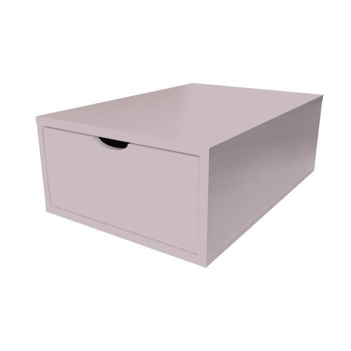cube de rangement largeur 75 cm tiroir bois achat
