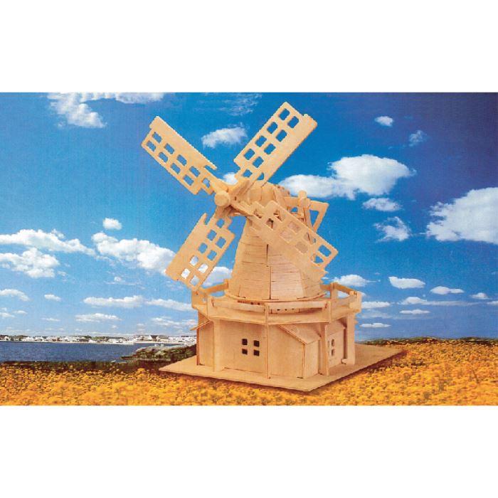 Maquette moulin vent 78 pi ces bois p achat vente garage batiment cdiscount - Moulin a vent en bois a fabriquer ...
