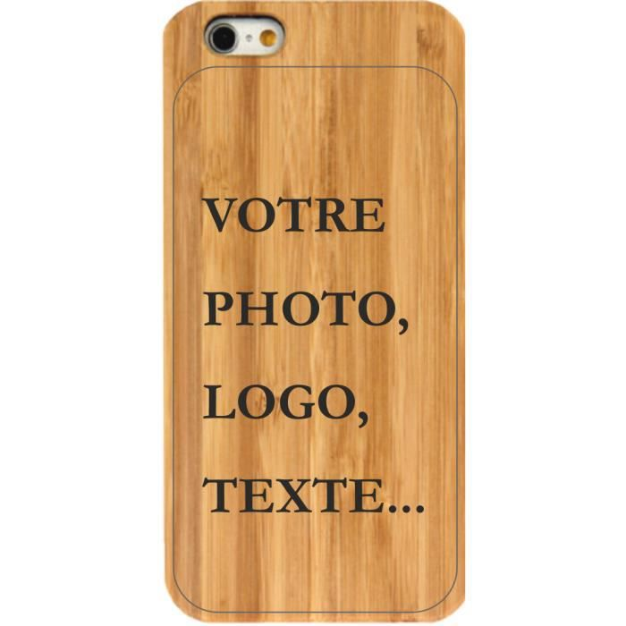 coque bois perso iphone 6 achat vente coque bois perso iphone 6 cdiscount. Black Bedroom Furniture Sets. Home Design Ideas