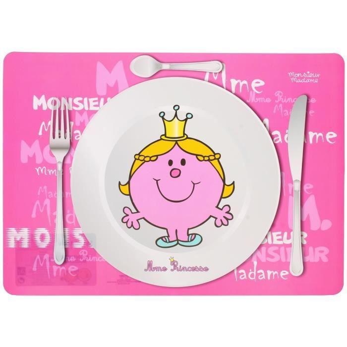 Set de table enfant monsieur et madame princesse achat for Dimensions set de table