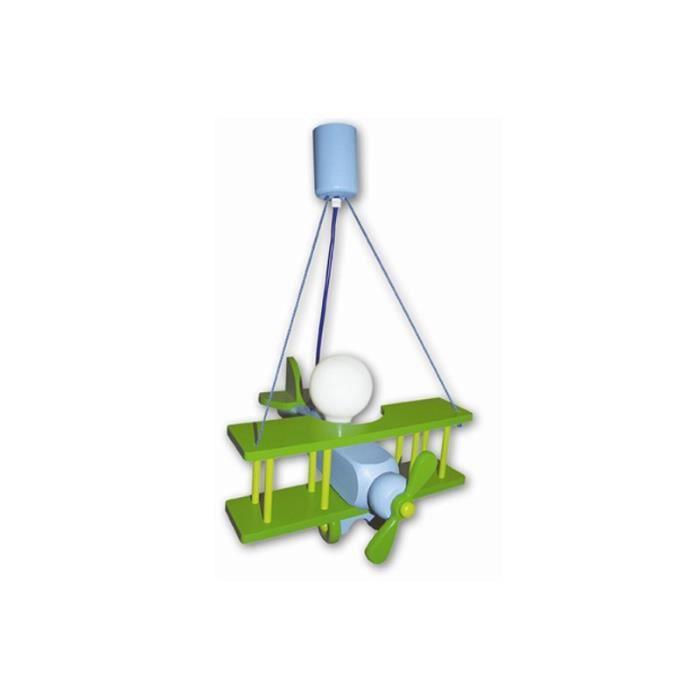 suspension luminaire enfant aeronef xxl bleu vert achat vente suspension luminaire enfant. Black Bedroom Furniture Sets. Home Design Ideas