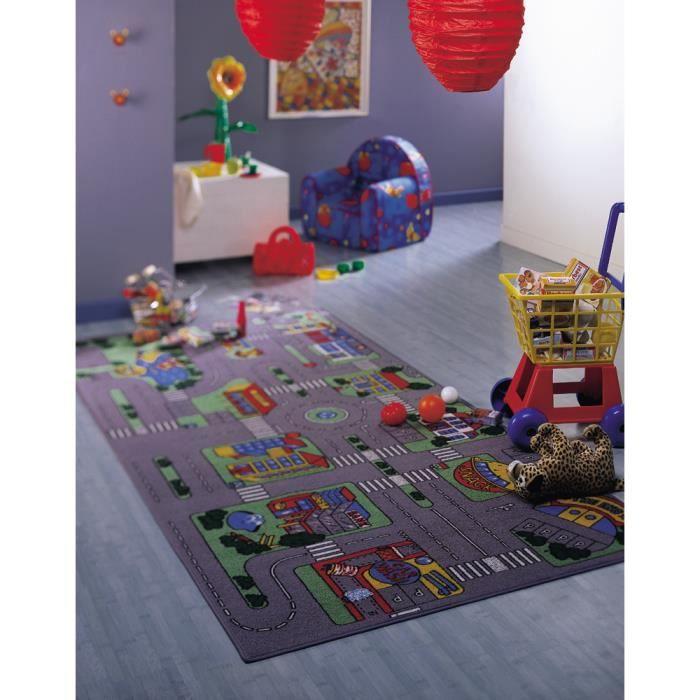 tapis de jeux circuit auto 80x120cm achat vente tapis de jeu les soldes sur cdiscount. Black Bedroom Furniture Sets. Home Design Ideas