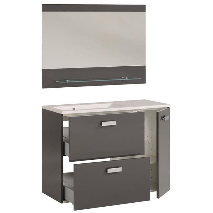Meuble sous vasque gris laqu design douchka achat vente meuble vasque - Meuble vasque design ...