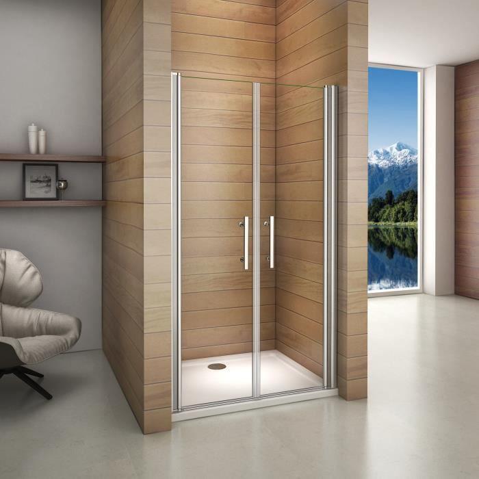 105x195cm shower door porte de douche pivotante r glable anticalcaire - Porte de douche occasion ...