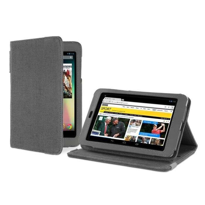 cover up housse avec avec support pour tablette google nexus 7 chanvre naturel gris ardoise. Black Bedroom Furniture Sets. Home Design Ideas