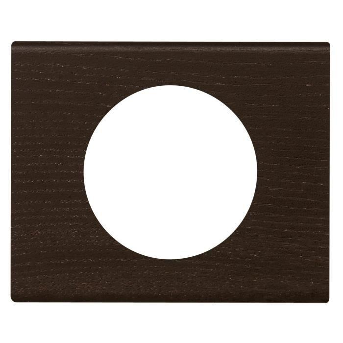 legrand celiane plaque de finition 1 poste bois weng achat vente plaque de finition bois. Black Bedroom Furniture Sets. Home Design Ideas