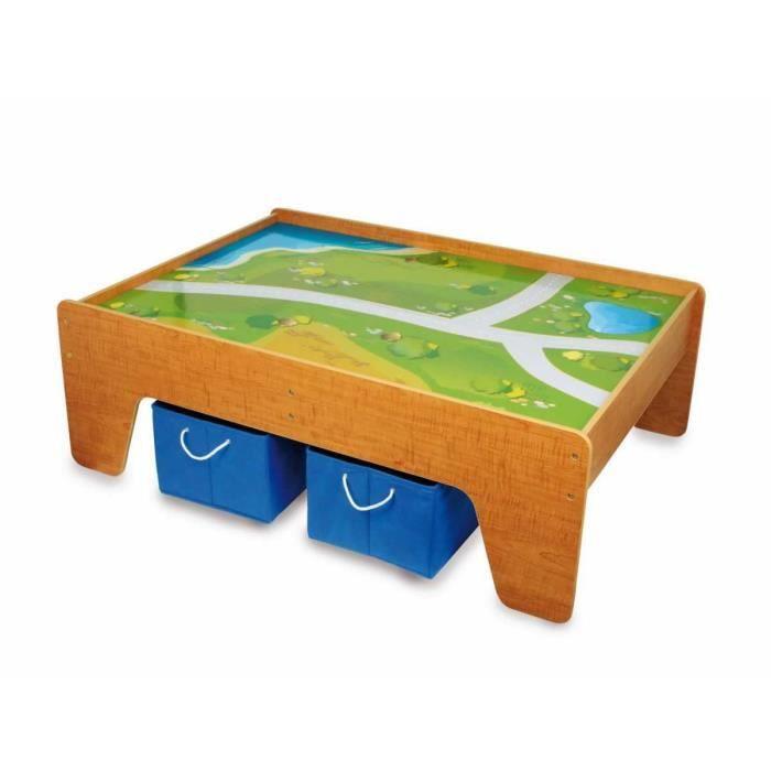 circuit de voiture sur table en bois d cor e gali achat vente circuit cdiscount. Black Bedroom Furniture Sets. Home Design Ideas