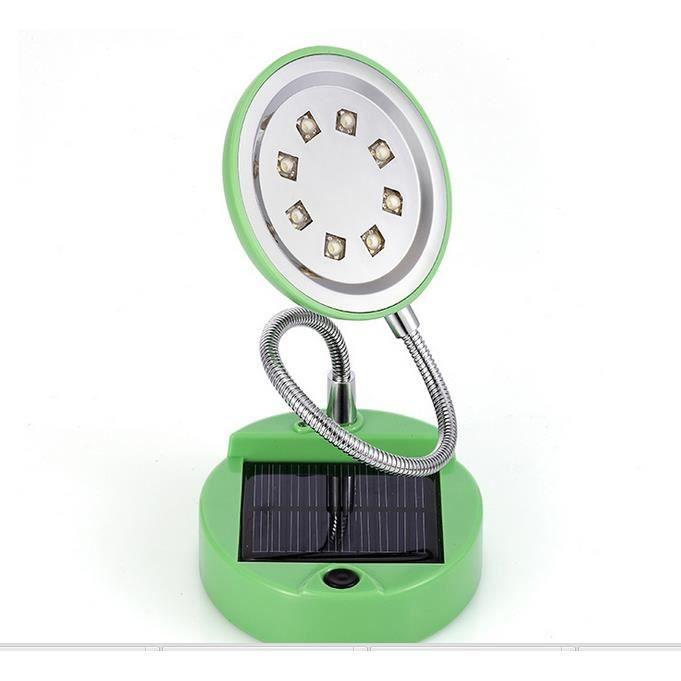 tudiant solaire lampe de bureau led 8 lampe ronde verte super lumineux de l 39 il 1 peut tre. Black Bedroom Furniture Sets. Home Design Ideas