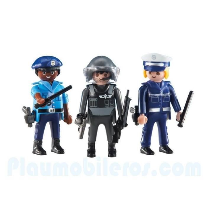 playmobil 6501 lot 3 figurines policier nouveaut 2017 achat vente figurine personnage. Black Bedroom Furniture Sets. Home Design Ideas