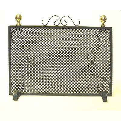 grille pare feu fer noir achat vente accessoires chemin e cdiscount. Black Bedroom Furniture Sets. Home Design Ideas