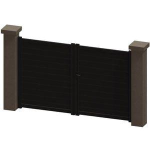 portail aluminium marron achat vente portail aluminium marron pas cher cdiscount. Black Bedroom Furniture Sets. Home Design Ideas