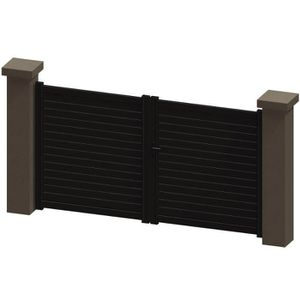 portail aluminium marron achat vente portail aluminium. Black Bedroom Furniture Sets. Home Design Ideas