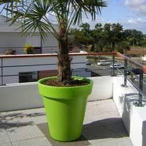 pot rond deco o 610 mm vert anis achat vente jardini 232 re pot fleur pot rond deco o 610 mm