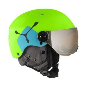 CASQUE SKI - SNOWBOARD Casque de ski Cebe Fireball Junior Vert Citron/Ble