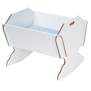 berceau en carton blanc avec matelas achat vente berceau et support 7290012560019 cdiscount. Black Bedroom Furniture Sets. Home Design Ideas