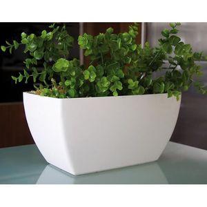 cache pot blanc achat vente cache pot blanc pas cher cdiscount. Black Bedroom Furniture Sets. Home Design Ideas