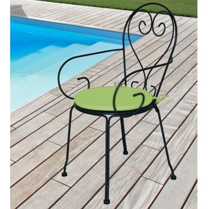 4 galettes chaise ronde diam tre 40x2 5 cm achat vente for Galette de chaise 45x45