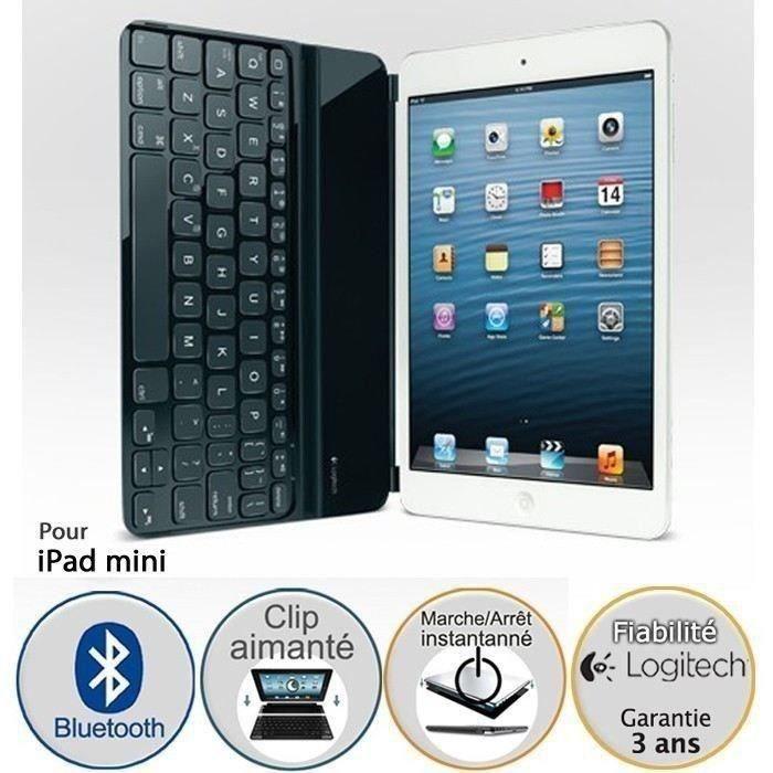 logitech coque clavier pour ipad mini ultrathin prix pas cher soldes cdiscount. Black Bedroom Furniture Sets. Home Design Ideas