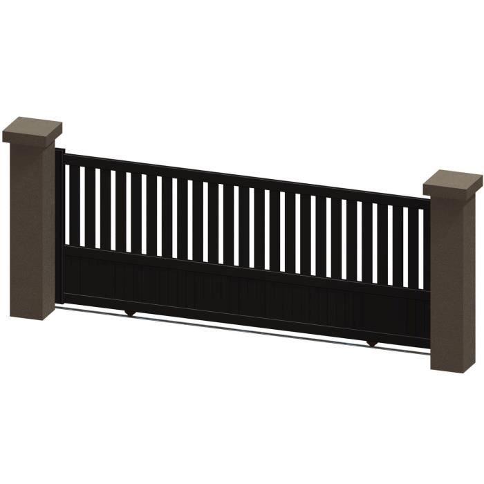 portail 5 m coulissant portail coulissant 5m le portailalu portail coulissant aluminium l 3 5. Black Bedroom Furniture Sets. Home Design Ideas