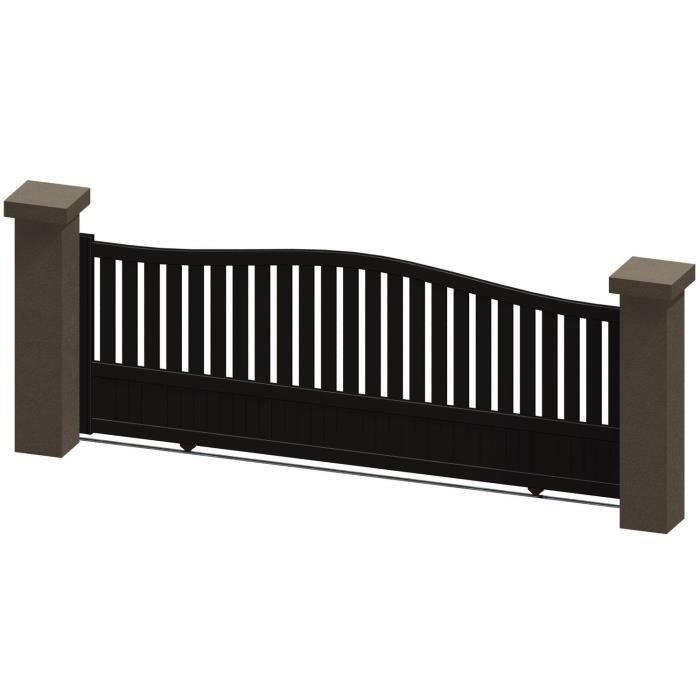 portail coulissant en aluminium madira marron 3 5m manuel autour du portail achat vente. Black Bedroom Furniture Sets. Home Design Ideas