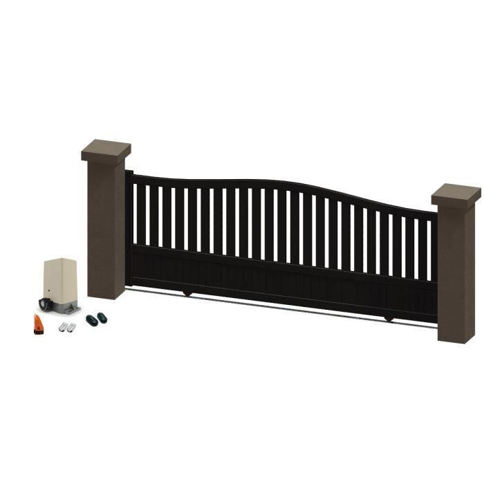 portail coulissant en aluminium madira marron 3 5m motoris autour du portail achat vente. Black Bedroom Furniture Sets. Home Design Ideas