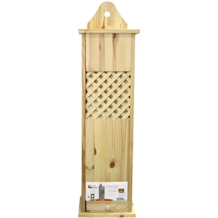 Frandis huche pain en bois pin massif 78x21x17cm marron achat vente boi - Huche a pain en bois ...