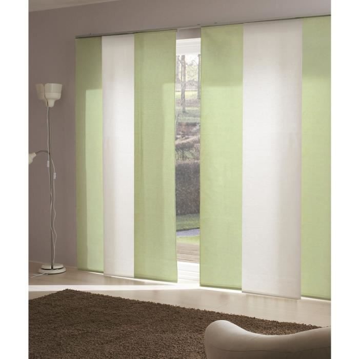 panneau japonais voile de lin vert achat vente panneau japonais lin soldes cdiscount. Black Bedroom Furniture Sets. Home Design Ideas