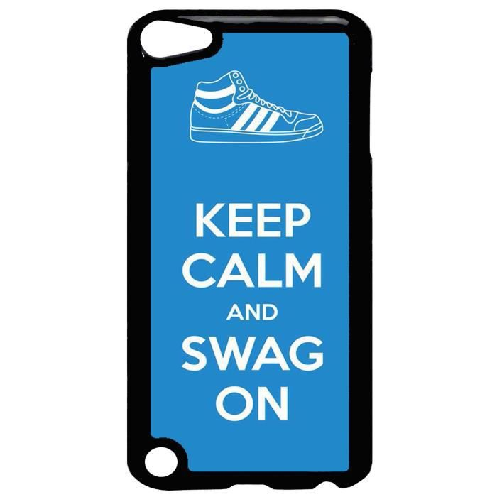 coque ipod touch 5 keep calm and swag on tendance ref. Black Bedroom Furniture Sets. Home Design Ideas