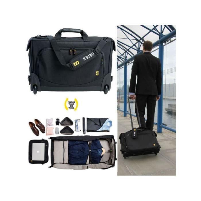 gate8 cabine v tement compagnon cas tri pli avec un sac d 39 ordinateur portable zip off achat. Black Bedroom Furniture Sets. Home Design Ideas