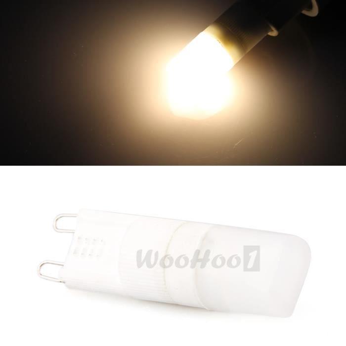 10pcs 1w g9 led haute puissance ampoule lampe spot blanc chaud ac 220 240v achat vente 10pcs. Black Bedroom Furniture Sets. Home Design Ideas