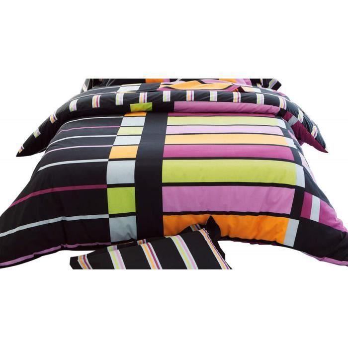 serie graphique pepsy housse de couette 240x220cm achat vente housse de couette cdiscount. Black Bedroom Furniture Sets. Home Design Ideas