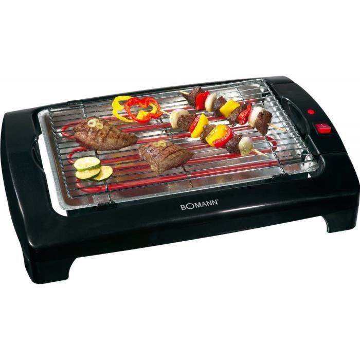 Barbecue lectrique de table 2000w bomann ref achat - Barbecue electrique de table ...