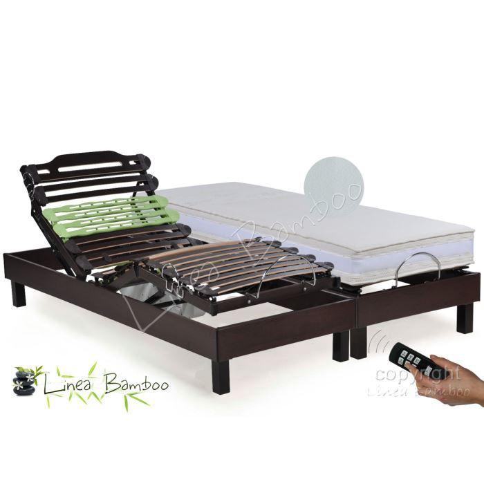 literie electrique lattes et mousse hr 2x70x190 ba achat. Black Bedroom Furniture Sets. Home Design Ideas
