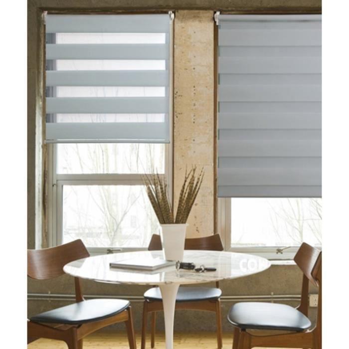 store jour nuit gris clair easy achat vente store de. Black Bedroom Furniture Sets. Home Design Ideas