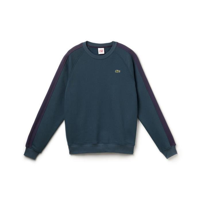 sweat shirt lacoste vert 80 coton 20 polyester vert achat vente sweatshirt cadeaux de. Black Bedroom Furniture Sets. Home Design Ideas