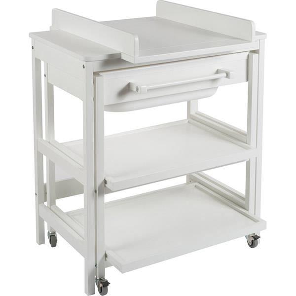 Meuble de bain b b comfort smart white blanc achat vente table langer - Meuble a langer blanc ...