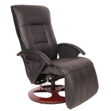 Fauteuil relax massant en simili noir 6 points de massage achat vente f - Sur fauteuil massant ...