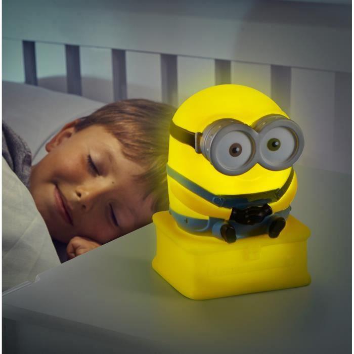 les minions lampe enfant veilleuse bob goglow achat vente lampe a poser cdiscount. Black Bedroom Furniture Sets. Home Design Ideas