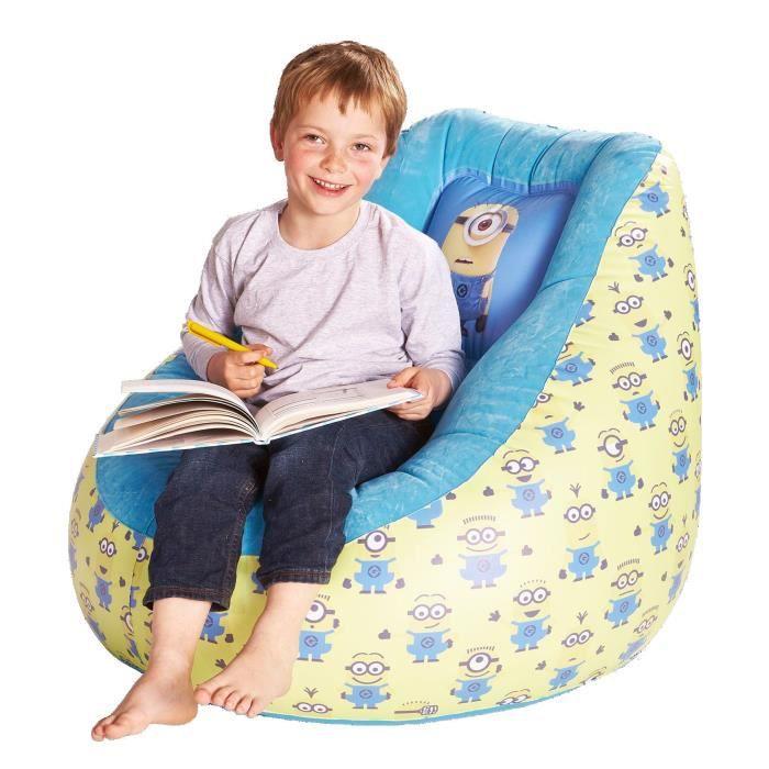 les minions fauteuil enfant gonflable et d pliable achat vente fauteuil canap b b. Black Bedroom Furniture Sets. Home Design Ideas
