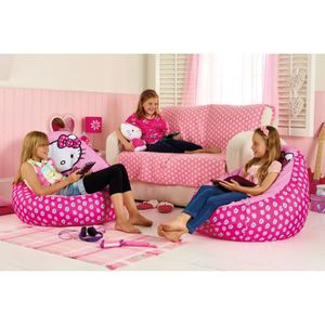 fauteuil pouf hello kitty b b achat vente fauteuil pouf hello kitty b b pas cher les. Black Bedroom Furniture Sets. Home Design Ideas