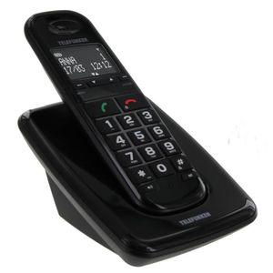 Téléphone fixe Telefunken TD 301 Pillow Solo Noir Sans Répondeur