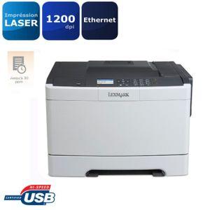 Lexmark Imprimante CS410n - Laser - Couleur - USB 2.0 - Écran LCD - A4