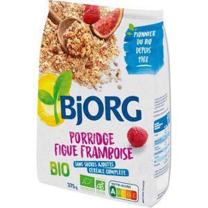 CÉRÉALES PETIT DEJ  BJORG Porridge Figue Framboise Bio 375g